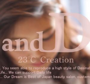 ホームページ制作事例: and D for hair